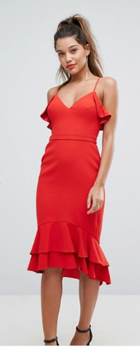 red dress asos