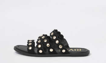 black ri sandals