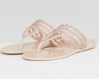pink diamonte sandals