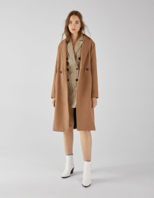 Bershka straight long coat